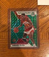 2019-20 Panini Mosaic DOMINIQUE WILKINS Hall Of Fame GREEN PRIZM Hawks No. 294