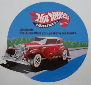 Fan-Aufkleber Mattel Hot Wheels Original Oldtimer 80er Modellautos