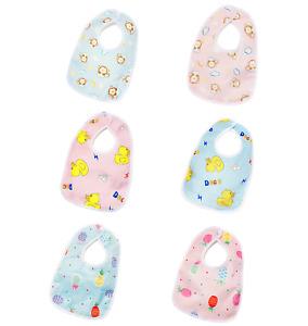 x1-5 Baby bibs blue pink baby bibs cotton waterproof bibs baby bibs newborn UK