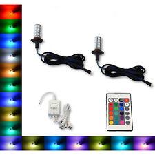 9005 27 SMD RGB Multi-Color Changing Shift Led Fog DRL Light Bulb IR Pair