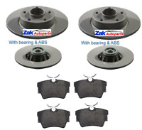 For Vauxhall Vivaro REAR BRAKE DISCS & PADS (FITTED WITH ABS AND WHEEL BEARING)