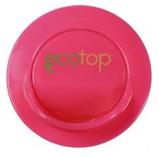 """EcoTop PINK 3"""" in. Lid Top Cup Coffee Travel Mug Cover Eco-Friendly Leak Free"""
