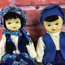"Vintage Ceramic Dolls Set Of Boy & Girl Dolls 8"""