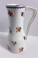 Enoch Wedgwood Tunstall Ltd Lowestoft Pitcher #280 Made in England Floral Gold