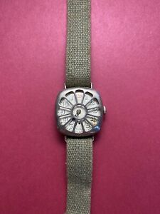 Vintage 1918 WWI Waltham Silver Trench Watch with Fahys Integrated Guard