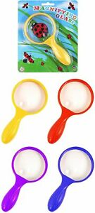 Magnifying Glass Assorted Colours 15cm Childrens Kids Toy Bug Viewer Science Toy