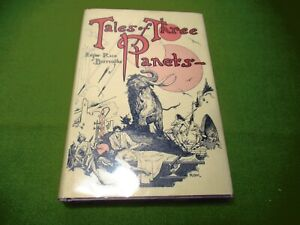 TALES OF THREE PLANETS by Edgar Rice Burroughs 1974 Canaveral Press HC with DJ