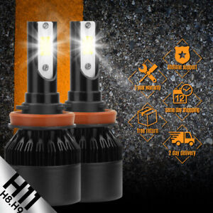 2 pcs LED CSP 388W 38800LM 6000K H11 White Headlight Bulbs Waterproof