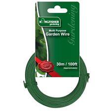 30m Multi propósito Pvc verde de plástico recubierto Jardín atar Wire (1mm) gsw102