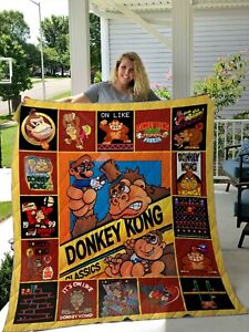 TLMUS DonKey Kong Christmas Cute Collection Fleece Blanket, Quilt Blanket NEW