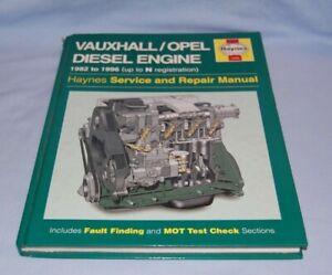 Haynes Vauxhall Opel Diesel Engine 1982 - 1996 ( Up to N Reg)