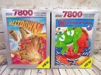 Lot of 2 Atari 7800 Games - Tower Toppler & Meltdown - Both Factory Sealed - NOS