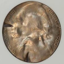 1964 ANACS MS63 Reverse Die Cap Mushroom Nickel Mint Error Rainbow Toned