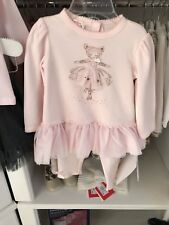 Bargain  MKATE MACK baby Teddy Ballerina Top And Legging Outfit Age 12m Rrp £54
