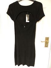 Femmes Jane Norman ajourées tunique robe noire taille 10 Neuf & Superbe