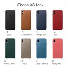Genuine Apple iPhone X Max, XS Max & XR Silicone Snap-On Case in Various Colour