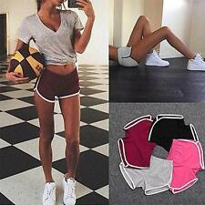 Women Yoga Sports Gym Workout Waistband Skinny Shorts Pants Training Sportswear