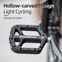 "ROCKBROS Mountain Bike Pedals Nylon Composite Bearing 9/16"" MTB Bicycle Pedals"
