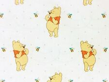 RPFFT98D Winnie The Pooh Honey Bee Children Story Book Bear Cotton Quilt Fabric