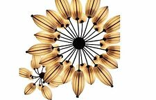 Zen Style Silk Shade Lotus Chandelier 12 lights