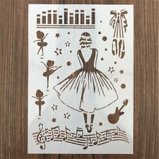 DIY Drawing Girls Plastic Stencils Painting Template Hollow Ruler Scrapbooking