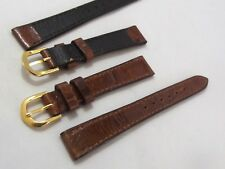 cinturino genuine leather brown oro fibbia gold ansa 12 mm orologi forniture