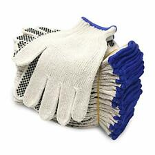 Polyester String Knit Shell Safety Protection Work Gloves For Painter Mechanic