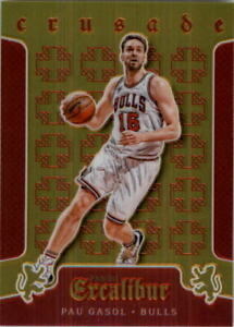 2015-16 Panini Excalibur Crusade Red Bulls Basketball Card #50 Pau Gasol /149