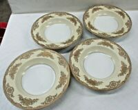 "Noritake China Occupied Japan Cream Encrusted Gold Trim 4 Pcs 8"" Soup Bowls (JB"