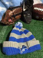 NFL Detroit Lions pom knit winter beanie Hat Cap H22