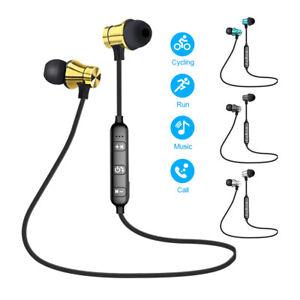 Magnetic In-Ear Headphones Sports Bluetooth Earphone Headset Wireless Earbuds 1x