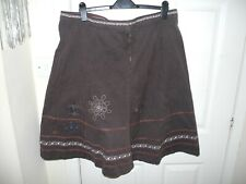FAT FACE skirt size 18 brown knee length hippie boho cotton