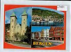 C7431cgt Norway Bergen Multiview vintage postcard