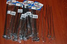 LOT 60 BBQ Barbecue Stainless Steel Grilling Kabob Kebab Flat Skewers Needle 12""