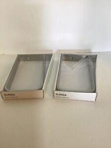 """Lot Of 2 IKEA Slinga 7.5"""" Brackets"""