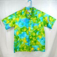 Vintage Tina Fashions Hawaiian Aloha Shirt MADE IN WAIKIKI Hawaii