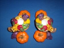 PartyLite P7370 Harvest Time Pair Taper Candle Holder Thanksgiving (G7-7)