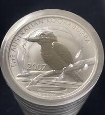 2007 Australia 1 oz .999 Silver Kookaburra (BU) From Mint Roll