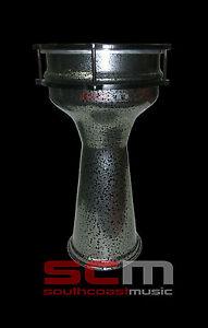 "ARABIC HAND DRUM MANO DARBUKA DOUMBEK MP978B 15 7/8"" HIGH PEWTER FINISH"