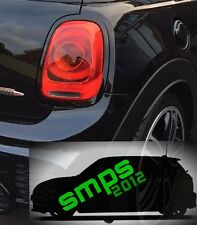 Mini Gen 3 Cooper S JCW F56 F57 tail light covers gloss Black late 2013 - onward