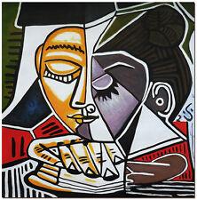 Tete D'une Femme Lisant - Hand Painted Pablo Picasso Oil Painting On Canvas