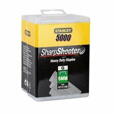 5000 Heavy Duty 6mm Stanley Sharpshooter Staples 1-TRA704 -5T for 0TRE550 Gun