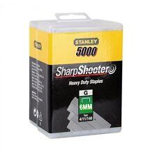 5000 Heavy Duty 6mm Stanley Sharpshooter Grapas 1-TRA704 - 5T para pistola de 0TRE550