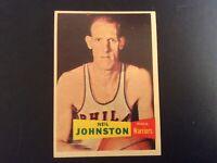 1957 Topps Basketball Neil Johnston #3 Philadelphia Warriors RC HOF