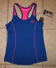 Nwt Abercrombie Girls Large Blue Pink Active Rapid Dry Tank Top Last One!