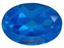 NEON APATITE NATURAL 6X4  MM OVAL CUT  BLUE OUTSTANDING NEON COLOR