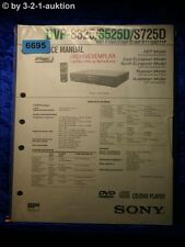 Sony Service Manual DVP S325 S525D S725D CD/DVD Player (#6695)
