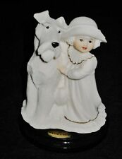 Giuseppe Armani Porcelain Figurine Society Girl With Dog (Terrier), 1994