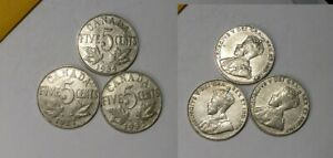 1927 32 34 CANADA NICKELS LOT 3 COINS 445-35