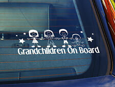 Static Cling Window Car Sign/Decal Grandchildren On Board 4 Children 1